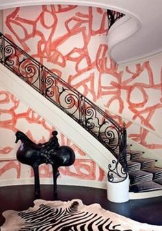 don't like the walls but love the stair case