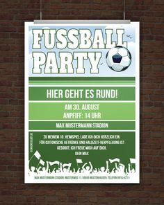 © Druckeselbst! Kostenlose Fussballeinladung