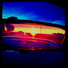 The prettiest thing I have ever seen in a rear view mirror!