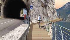 Le foto in anteprima della pista ciclabile del Lago di Garda. Sarà la più bella in Europa