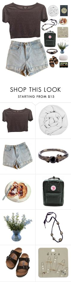 """""""*watches shows while eating crunchy snacks* i can't hear shvt."""" by annamari-a ❤ liked on Polyvore featuring Topshop, The Fine Bedding Company, American Apparel, Disce Mori, Fjällräven, ACHLA Designs, Birkenstock, INDIE HAIR, Miss Selfridge and The Body Shop"""