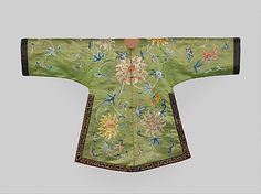 Jacket for a Theatrical Costume Period: Qing dynasty (1644–1911) Date: 18th century Culture: China Medium: Silk embroidery on silk satin damask; bands: silk and metallic-thread embroidery on silk satin Accession Number: 1978.257