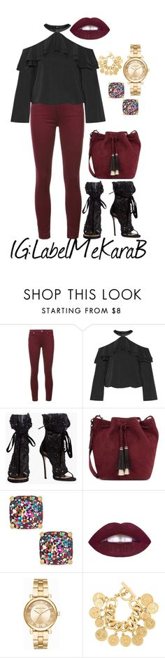 """Weekend"" by bsharccara on Polyvore featuring 7 For All Mankind, Alice + Olivia, Dsquared2, Loeffler Randall, Kate Spade, Michael Kors and Chanel"