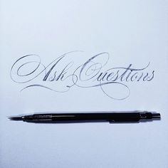 Lettering craft 9 New lettering inspirations from around the. Calligraphy Drawing, Copperplate Calligraphy, Calligraphy Words, How To Write Calligraphy, Penmanship, Flourish Calligraphy, Typography Love, Typography Letters, Graphic Design Typography