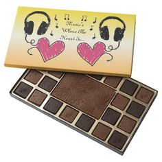 Music's Where The Heart Is 45 Piece Box Of Chocolates