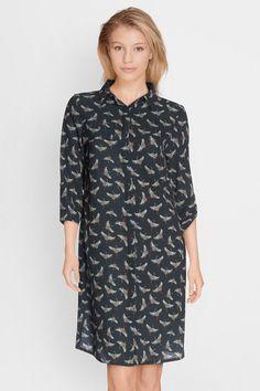 Craquez pour cette robe imprimée cigognes noir L'histoire de louise (8 en stock à 79,95€ au 18/09/17) Livraison et retours GRATUITS