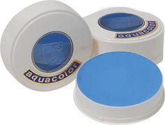 Kryolan AquaColor Baby Blue Paint for Face Painting and Body Art