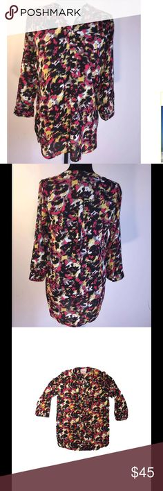 Romeo and Juliet Couture Tunic Top Romeo and Juliet Couture Multi Colored Tunic. This is beautiful. The bright colors really stand out. You can make never ending looks with this tunic by changing your accessories every time you wear it. 100% Polyester. Tags attached Romeo & Juliet Couture Tops Tunics