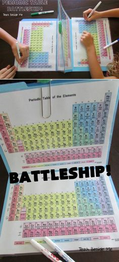 This mother found a clever way to turn learning the Periodic Table into a fun game of Battleship. #diy