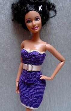 Strapless crochet dress with belt | Flickr - Photo Sharing!