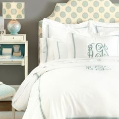 Amelie Embroidered Duvet - Gray | Ballard Designs
