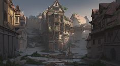 abandoned cities artstation concept artwork drawings places pang artist health
