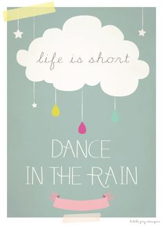 Dance in the Rain - Art Print - Personalised Gift :: Little Joy Designs