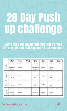Challenge yourself to increase your push up count over 28 days. How many can you do? Subscribe to get a full customisable download. #pushups #getfit #fitness #challenge #resolve Push Up Challenge, Workout Challenge, Living A Healthy Life, 28 Days, Count, Challenges, Fitness, Fitness Challenges