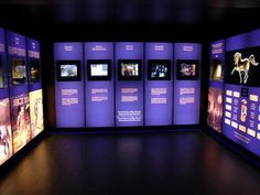 Special Light Boxes with Textile Backlit for a Museum