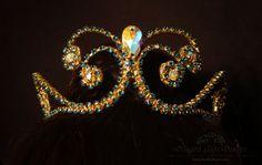 Blue Zircon Rhinestone Ballet Headpiece by dragongatedesign