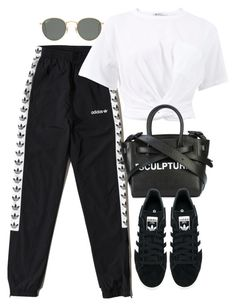 """Untitled #3904"" by camilae97 ❤ liked on Polyvore featuring adidas Originals, T By Alexander Wang, Off-White and Ray-Ban"