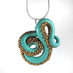 Octopus tentacle pendant