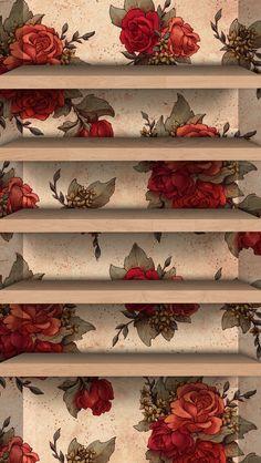 Vintage Rose iPhone Wallpaper Home Screen