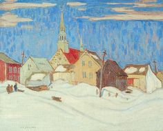 "Jackson Canadian, Member of The Group of Seven 1882 - 1974 ""Quebec Village, Group Of Seven Artists, Group Of Seven Paintings, Emily Carr, Canadian Painters, Canadian Artists, Naive, Tom Thomson Paintings, Jackson, Canada Images"