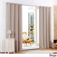 Shimmery Basketweave Grommet Top Blackout 84-inch Curtain Panel Pair - Overstock™ Shopping - Great Deals on Curtains