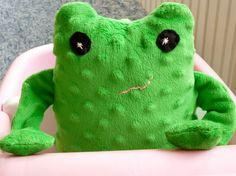 Stuffed Frog Minky Plush Frog by FranconiaRidgeStudio on Etsy, $30.00