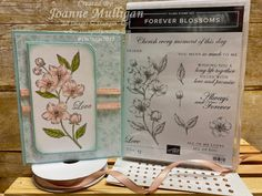 Card showcasing the new Forever Blossoms stamp set from my presentation at OnStage 2019 in Hartford, CT. Created by Joanne Mulligan, Independent Stampin' Up! Paris Cards, Birthday Blessings, Wink Of Stella, Stampinup, Stamping Up Cards, Catalogue, Card Sketches, Flower Cards, Greeting Cards Handmade