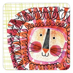 Lion coaster by Clare Youngs for Jenny Duff