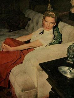Judy relaxing at home mid 1940s