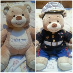 I just got the cutest thing EVER in the mail. #Marine build a bear.. daww :) only 34 Days Left