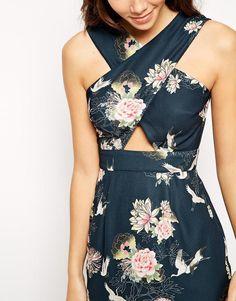 ASOS Petite | ASOS PETITE Exclusive Cross Front Dress at ASOS