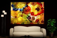 Canvas Giclee Abstract Art Of Glass Home Fine Wall Prints Colorful Print Decor x #CanvasDen #Photo