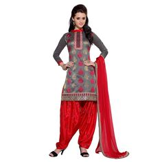Eid Special Designer Brown Unstitched Patiala Suit-kQ1001(ST-Queen)karishma