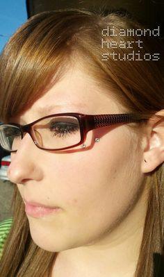 """Anti Eyebrow"" Surface Piercing  By Lenae Gherardi Diamond Heart Studios Professional Body Piercing   www.diamondheartpiercing.com www.facebook.com/diamondheartpiercing  #piercings"