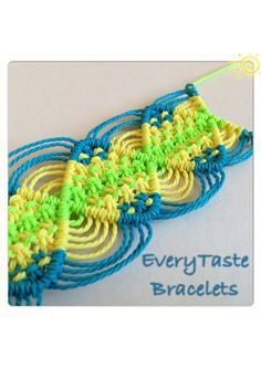 Micro Macrame Friendship Bracelet by EveryTasteBracelets on Etsy.