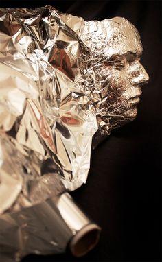 Tin Foil 3D Portrait   illusion Now