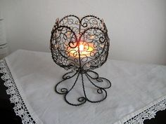 Wire Board, 3d Pen, Metal Baskets, Candleholders, Wire Crafts, Tea Light Holder, Metals, Home Projects, Wire Wrapping