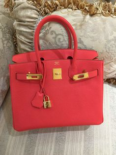 2b3a2b49dd5f RARE Hermes Birkin Clemence 30cm Birkin Bag with Gold Hardware T5 R  Engraved Stamp