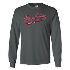 Men's Boston College Eagles McFly Long-Sleeve Tee, Size: Medium, Grey (Charcoal)