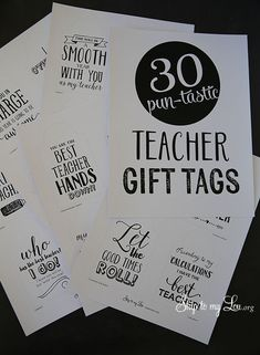 Back to school printable teacher gift tags #backtoschool #gift skiptomylou.org