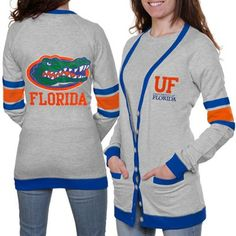 Florida Gators Ladies Study Hall Long Sleeve Cardigan - Ash  @Fanatics ® #FanaticsWishList