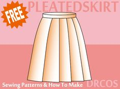 Pleatedskirt sewing patterns & how to make