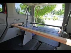 Solo platform bed in a honda element with left seat
