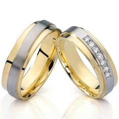 2016 fashion jewelry gold color health titanium steel wedding bands engagement couples rings sets for men and women