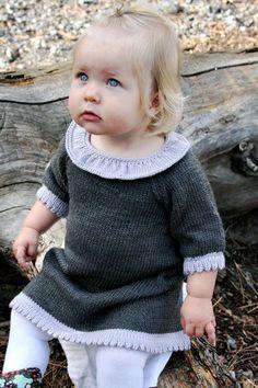 (CK -got)Free Knitting Pattern - Toddler & Childrens Clothes: Skadi Sweater Dress Crochet Baby Dress Free Pattern, Knitting Patterns Free, Knit Patterns, Free Knitting, Baby Knitting, Knitted Baby, Dress Patterns, Brei Baby, Pull Bebe
