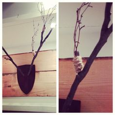 diy branch antler inspiration via @happymundane on Instagram