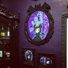 New @queenie_pocketfullofposiez painting installed.  #hauntedmansion #pocketfullofposiez #artaddict Creepy Home Decor, Haunted Mansion, Dark Art, Halloween Ideas, Painting, Disney, Sweet, Instagram Posts, Candy