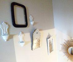 Miroirs et bénitiers #homedeco #miroirsoleil #benitiers #miror #stairs