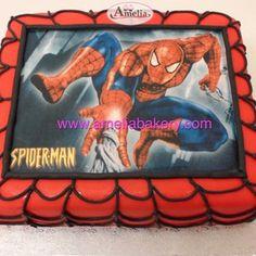 Tarta spiderman Spiderman, Cupcakes, Lunch Box, Custom Cakes, Fondant Cakes, Party, Xmas, Spider Man, Cupcake Cakes