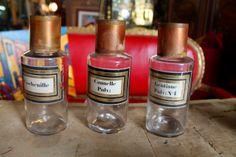 Pots de Pharmacie en verre blanc soufflé Epoque XIXème|Toulouse…